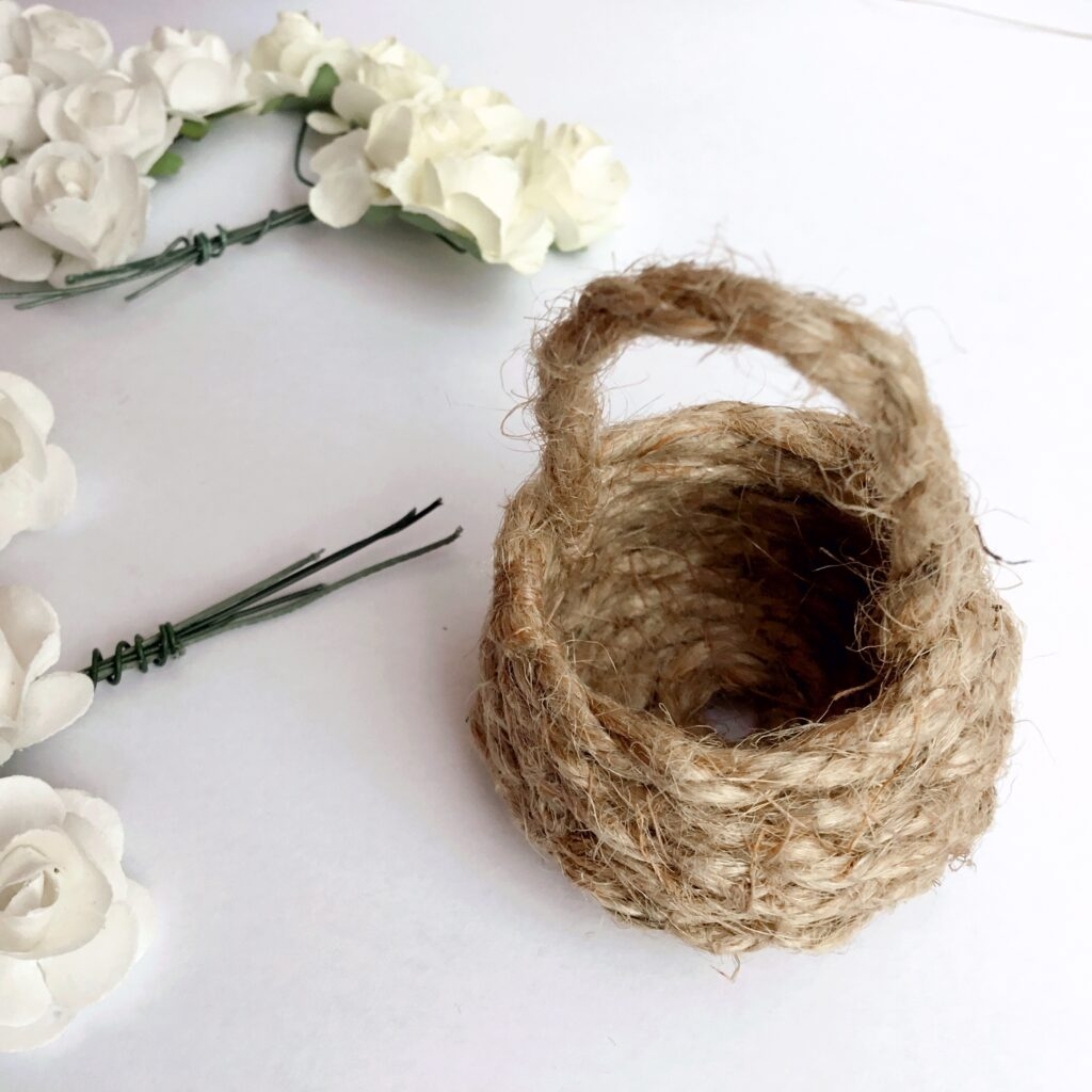 finished small basket